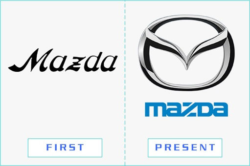 Mazda - First and Present Logo