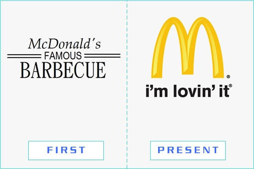McDonald's - First and Present Logo