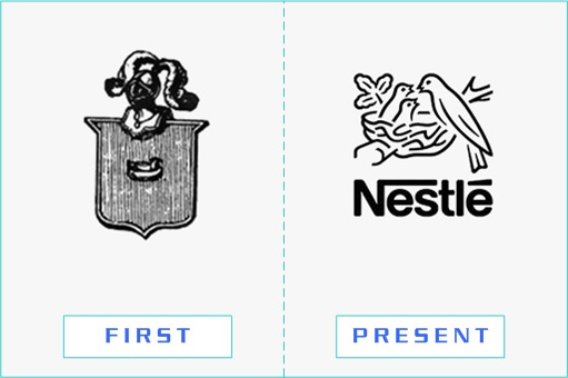 Nestle - First and Present Logo