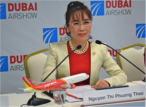 Nguyen Thi Phuong Thao - Founder and Chief Executive of VietJet - at Dubai AirShow