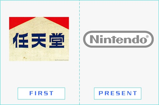 Nintendo - First and Present Logo