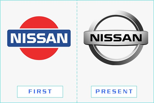 Nissan - First and Present Logo