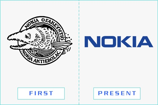 Nokia - First and Present Logo