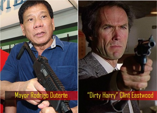 Philippine Elections 2016 - Mayor Rodrigo Duterte and Dirty Harry Clint Eastwood