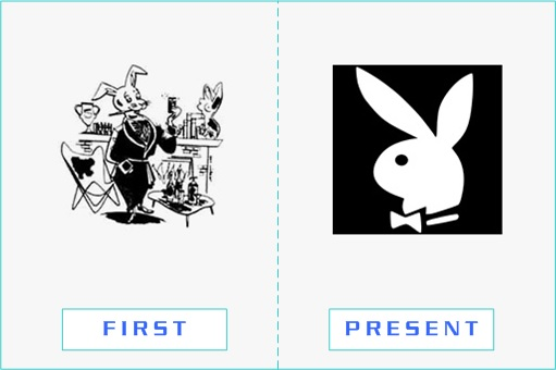 Playboy - First and Present Logo