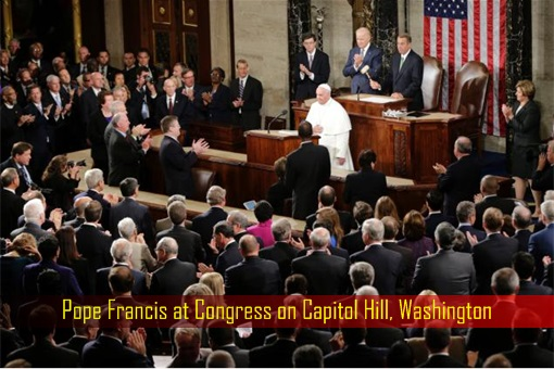 Pope Francis at Congress on Capitol Hill, Washington