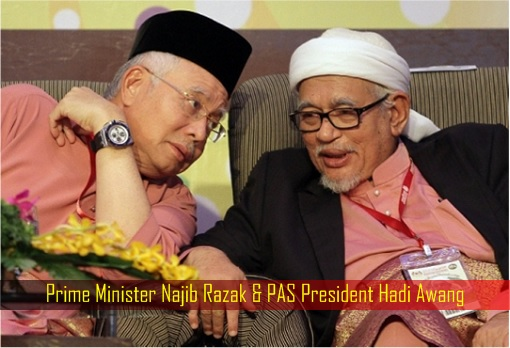 Prime Minister Najib Razak and PAS President Hadi Awang