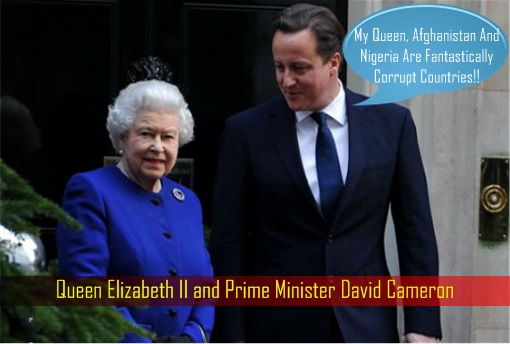 Queen Elizabeth II and Prime Minister David Cameron
