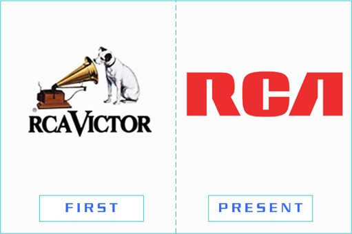 RCA - First and Present Logo