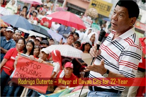 Rodrigo Duterte – Mayor of Davao City for 22-Year