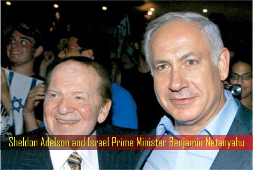 Sheldon Adelson and Israel Prime Minister Benjamin Netanyahu