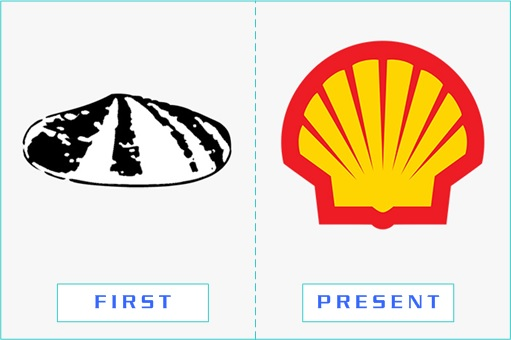 Shell - First and Present Logo