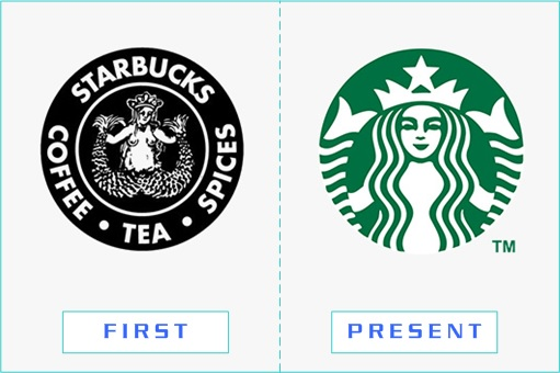 Starbucks - First and Present Logo