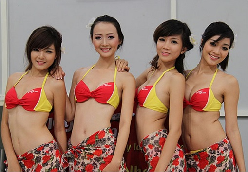 Vietnam VietJet Airline - Sexy Bikini Attendants 1