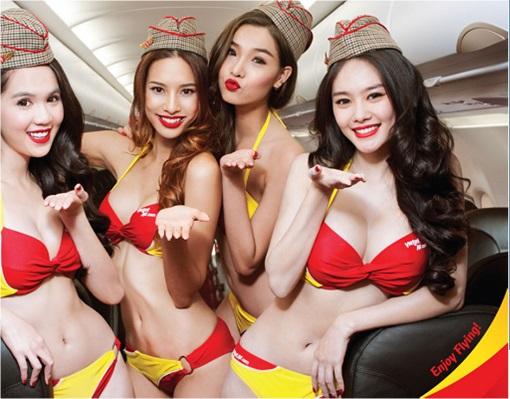 Vietnam VietJet Airline - Sexy Bikini Attendants 2