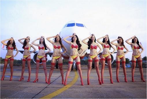 Vietnam VietJet Airline - Sexy Bikini Attendants 3