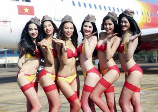 Vietnam VietJet Airline - Sexy Bikini Attendants 4
