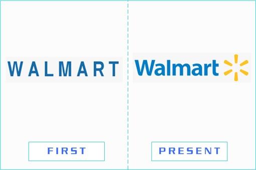 Walmart - First and Present Logo