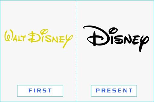 Walt Disney - First and Present Logo