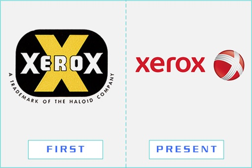Xerox - First and Present Logo