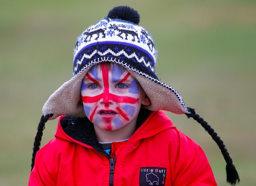 Brexit - Kid With British Flag On Face