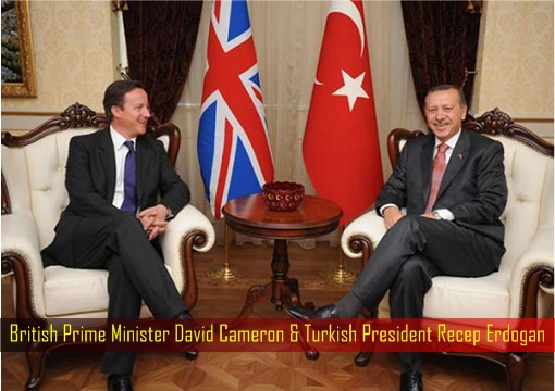 British Prime Minister David Cameron and Turkish President Recep Erdogan