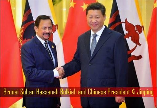 Brunei Sultan Hassanah Bolkiah and Chinese President Xi Jinping