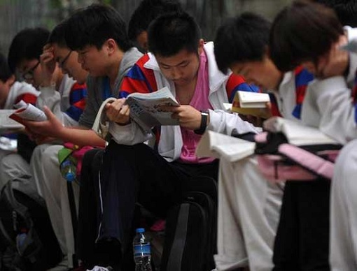 China Gaokao Exam - Students Studying
