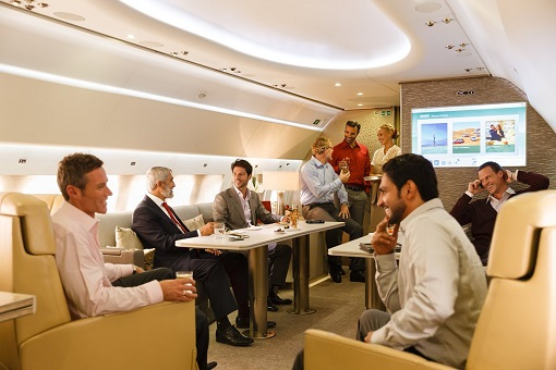 Emirates Airbus A319 Private Jet - Customised Lounge