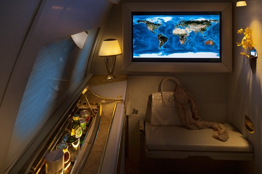 Emirates Airbus A319 Private Jet - The Second Zone - And a 32-inch HD LDC screen