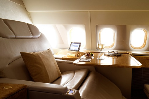 Emirates Airbus A319 Private Jet - The Second Zone - divided into 10 private suites