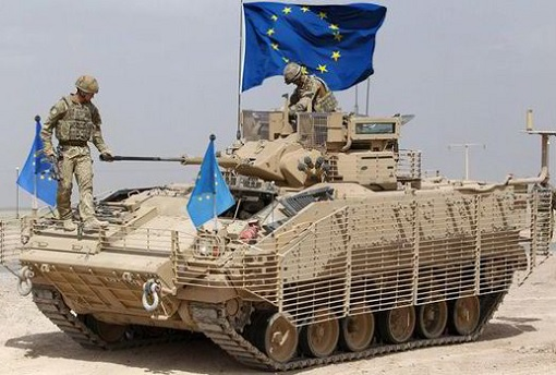 European Union Army - Tank with EU Flag