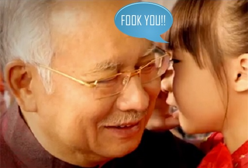 Girl Whisper To Najib Razak - Fook You - Fuck You