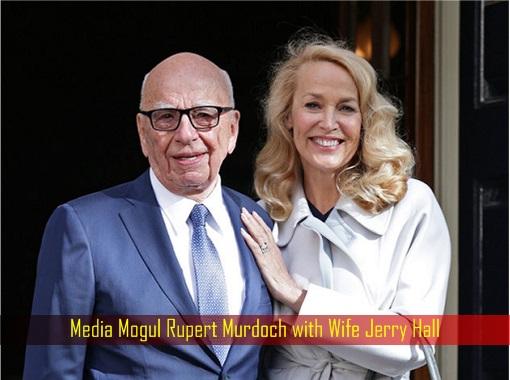 Media Mogul Rupert Murdoch with Wife Jerry Hall