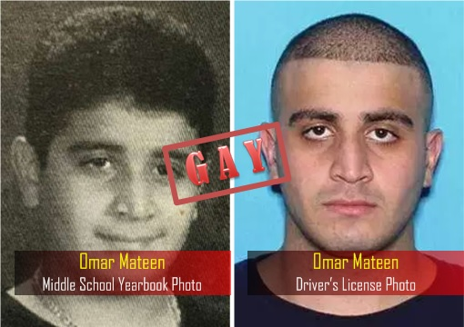 Orlando Florida Terrorism - Omar Mateen - Middle School Yearbook Photo - Driver License Photo - Gay