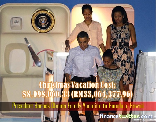 President Barack Obama Family Vacation to Honolulu, Hawaii - Costing