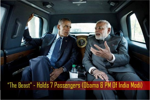 President Limousine - The Beast Is A 7-Seater Limo - Obama and Prime Minister of India Narendra Modi