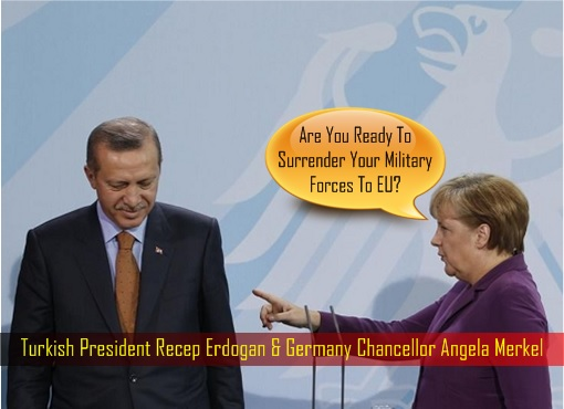 Turkish President Recep Erdogan and Germany Chancellor Angela Merkel