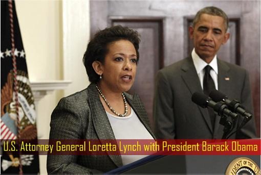 U.S. Attorney General Loretta Lynch with President Barack Obama