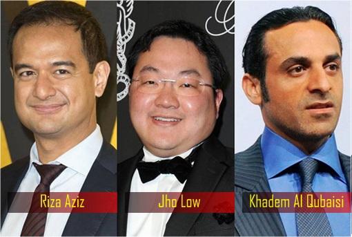 1MDB Scandal - Riza Aziz, Jho Low and Khadem Al Qubaisi