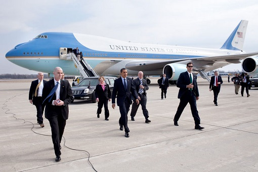 Air Force One - President Barack Obama Walking on Tarmac