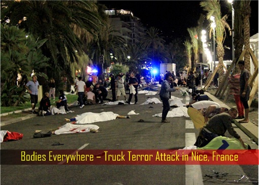 Bodies Everywhere – Truck Terror Attack in Nice, France