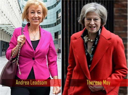 Britain New Woman Prime Minister - Andrea Leadsom and Theresa May