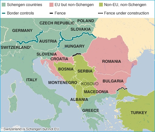 EU Migrant Crisis - Hungary Closed Border - September 2015