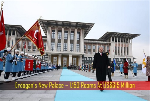 Erdogan's New Palace – 1,150 Rooms At US$615 Million - Erdogan Inspecting Guard of Honour