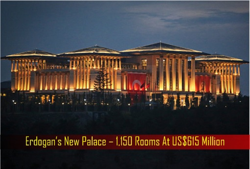Erdogan's New Palace – 1,150 Rooms At US$615 Million