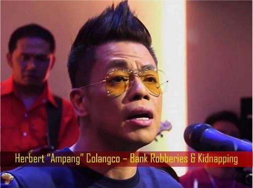 """Herbert """"Ampang"""" Colangco – Bank Robberies & Kidnapping"""