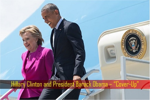 Hillary Clinton and President Barack Obama Walk Off Air Force One - Cover-Up