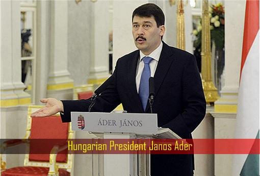 Hungarian President Janos Ader