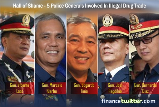 Philippines Hall of Shame - 5 Police Generals Involved In Illegal Drug Trade